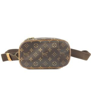 Pochette Bum Gange Brown Monogram Canvas bag